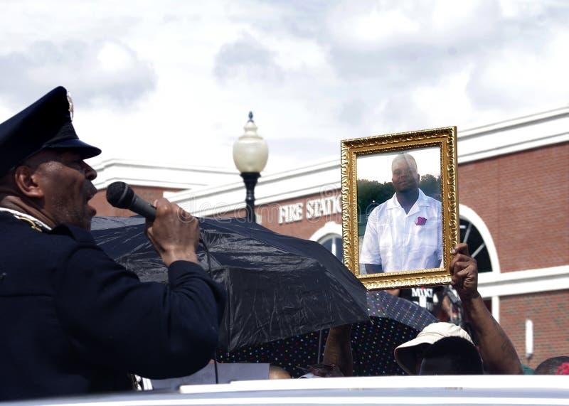 Διαμαρτυρία του Michael Brown στοκ φωτογραφίες