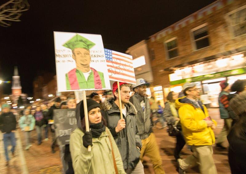 Διαμαρτυρία του Michael Brown στοκ εικόνα