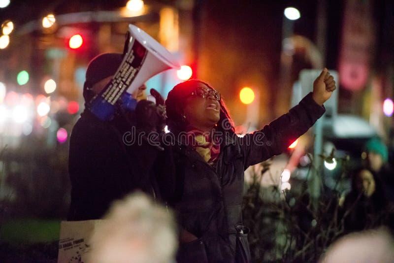 Διαμαρτυρία του Michael Brown στοκ φωτογραφία με δικαίωμα ελεύθερης χρήσης