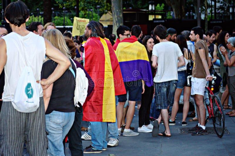 Διαμαρτυρίες ενάντια στη μοναρχία 25 στοκ εικόνες
