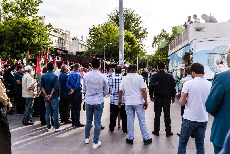 Διαμαρτυρίες ενάντια στο Ισραήλ που υποστηρίζει την Παλαιστίνη στην Τουρκία στοκ εικόνα με δικαίωμα ελεύθερης χρήσης