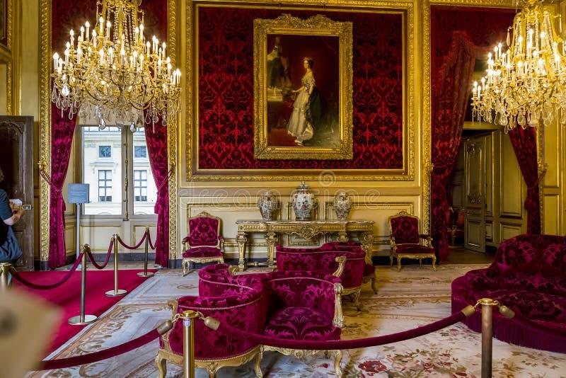 Διαμερίσματα Napoleon ΙΙΙ στο Λούβρο στοκ φωτογραφίες