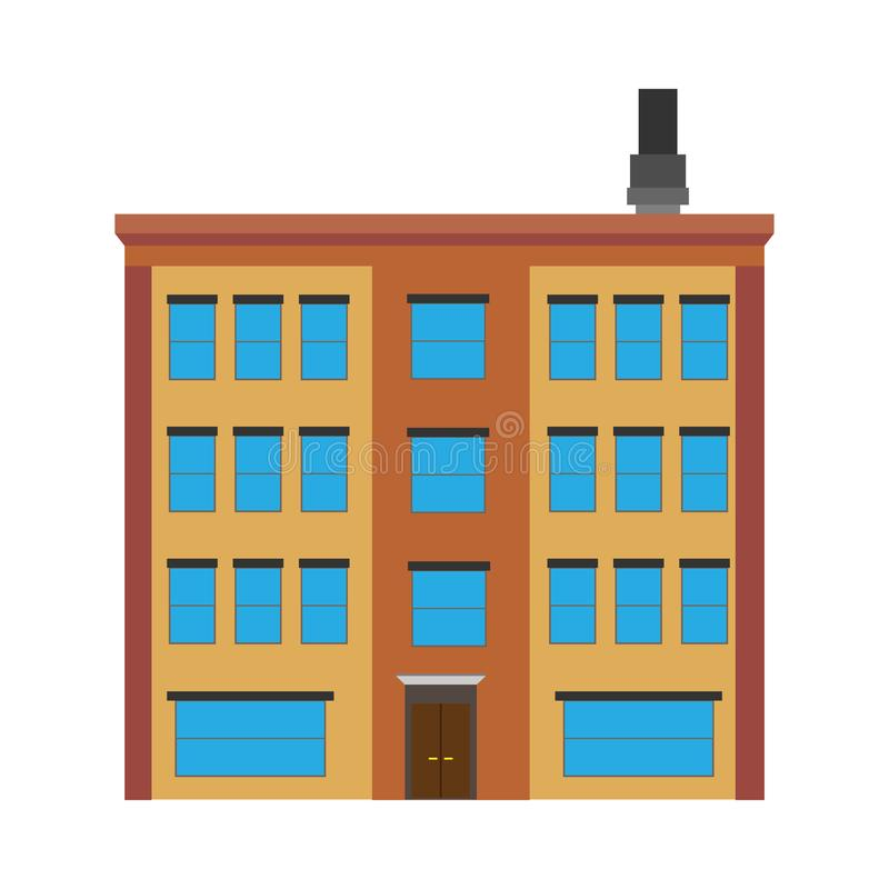 Διαμερισμάτων οικοδόμησης ακίνητη περιουσία δομών έννοιας διανυσματική Εξωτερικό κατοικιών πολυτέλειας αρχιτεκτονικής ελεύθερη απεικόνιση δικαιώματος
