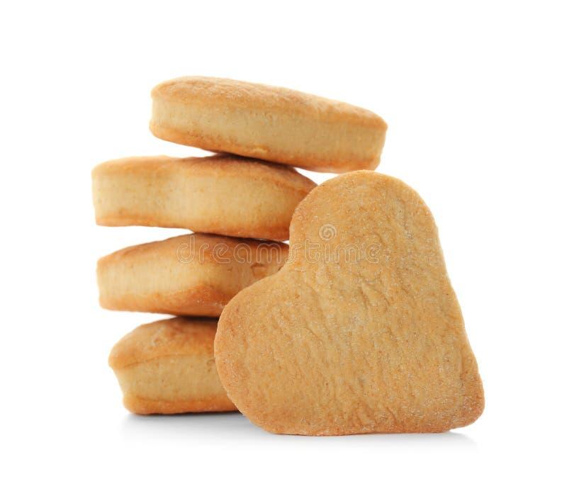 Διαμορφωμένα καρδιά βουτύρου μπισκότα στοκ φωτογραφία με δικαίωμα ελεύθερης χρήσης