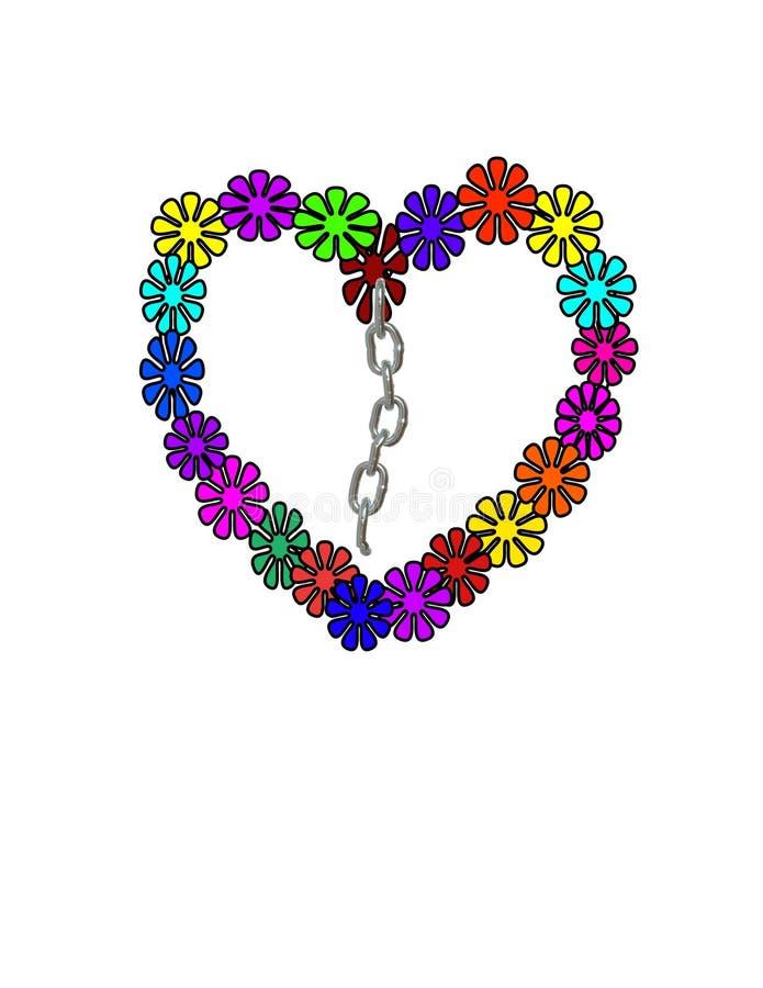 Διαμορφωμένα καρδιά πεντάλια διανυσματική απεικόνιση