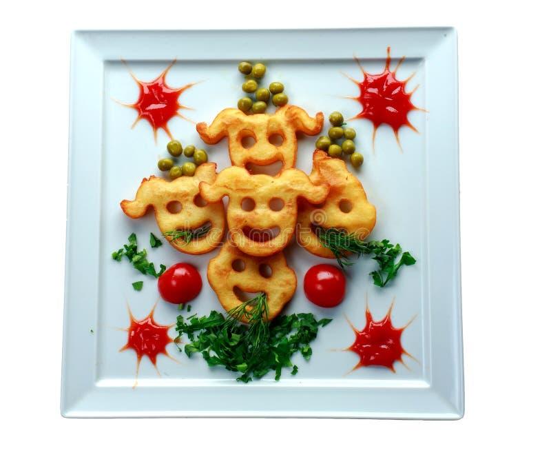 Διαμορφωμένες τηγανισμένες πατάτες στοκ εικόνες