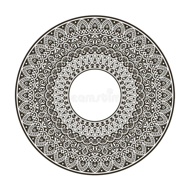 Διαμορφωμένη διακόσμηση σε έναν κύκλο, mandala ελεύθερη απεικόνιση δικαιώματος