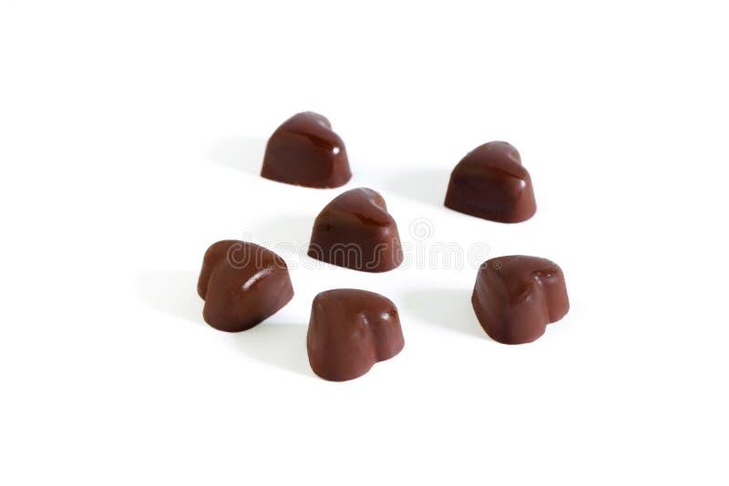 Διαμορφωμένη καρδιά πραλίνα σοκολάτας που απομονώνεται στην άσπρη ανασκόπηση στοκ φωτογραφία με δικαίωμα ελεύθερης χρήσης