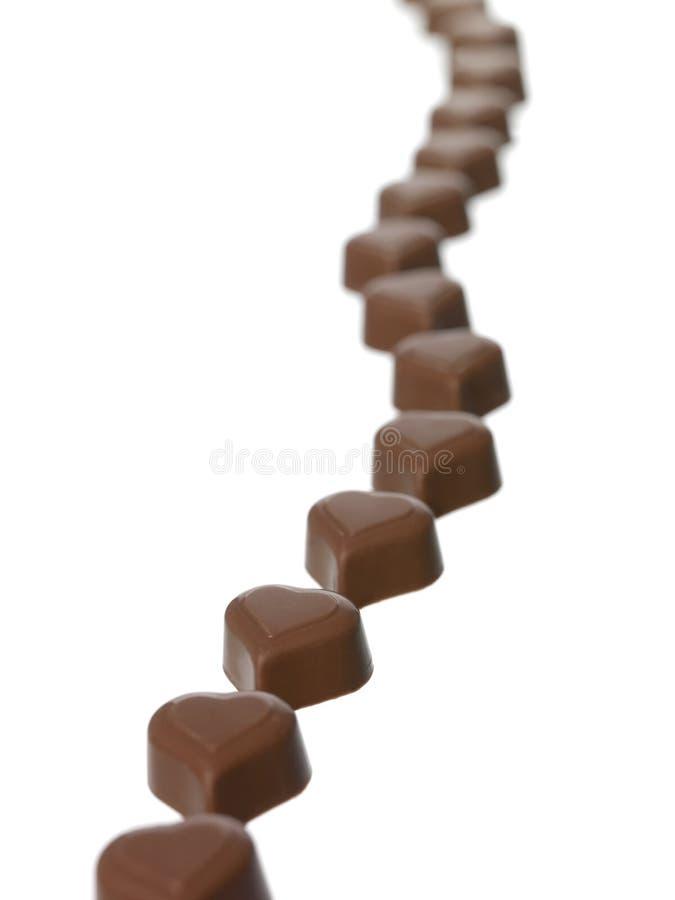 Διαμορφωμένη καρδιά σοκολάτα στοκ φωτογραφία με δικαίωμα ελεύθερης χρήσης
