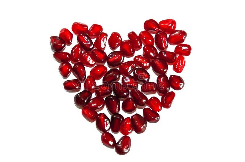 Διαμορφωμένο καρδιά ρόδι στοκ εικόνα