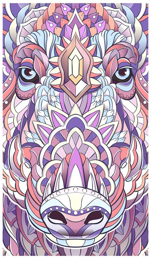 Διαμορφωμένο κεφάλι του κάπρου χοίρος χοίροι διανυσματική απεικόνιση