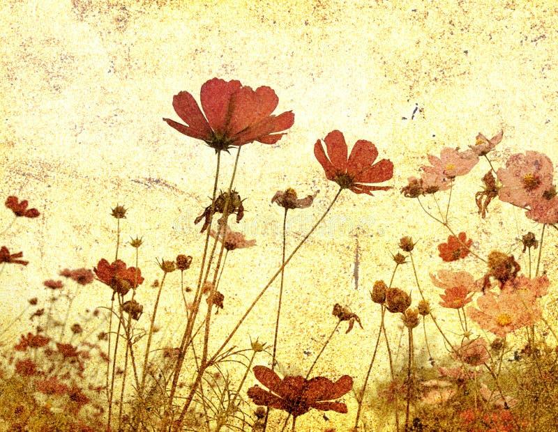 διαμορφωμένο λουλούδι παλαιό απεικόνιση αποθεμάτων