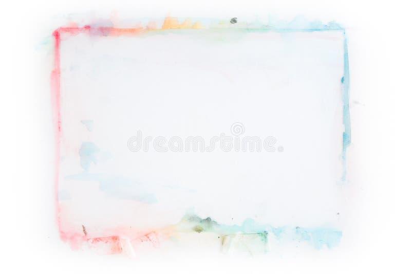 Διαμορφωμένο ορθογώνιο πλαίσιο watercolor στοκ εικόνες με δικαίωμα ελεύθερης χρήσης