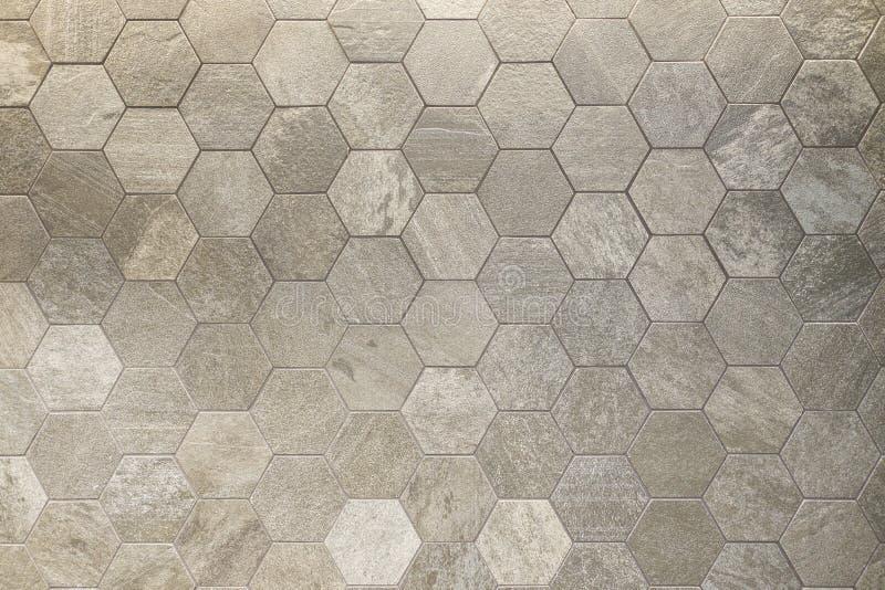 Διαμορφωμένο το Hexagram κεραμίδι, χωματένιος που χρωματίστηκε η επιφάνεια στοκ εικόνα