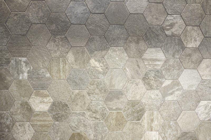 Διαμορφωμένο το Hexagram κεραμίδι, χωματένιος που χρωματίστηκε η επιφάνεια υποβάθρου στοκ εικόνα