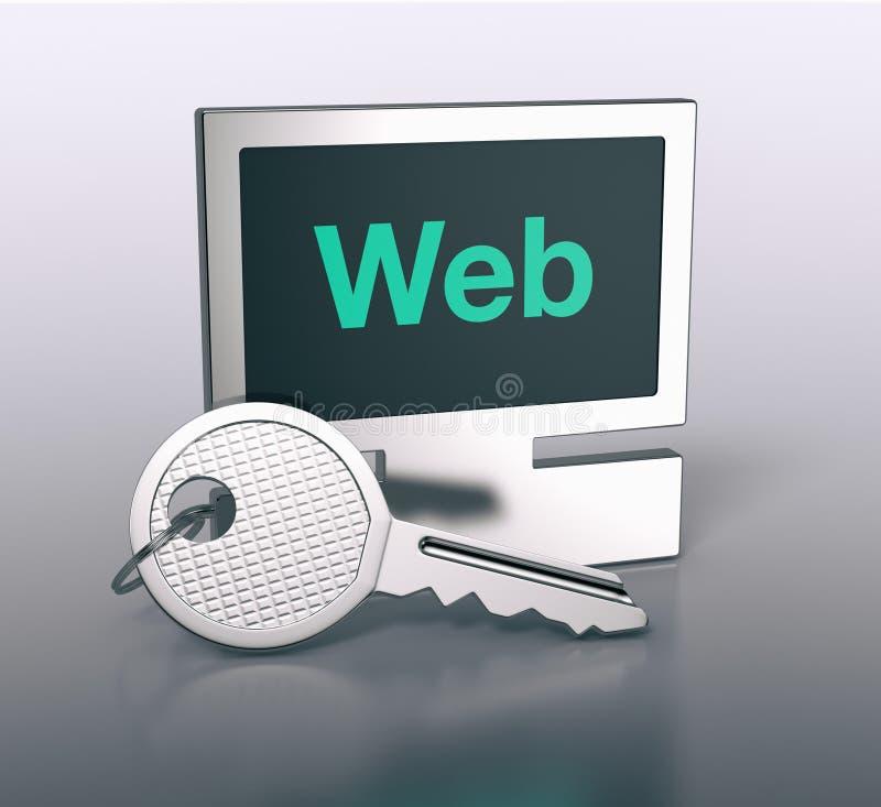 Διαμορφωμένο υπολογιστής μπρελόκ ελεύθερη απεικόνιση δικαιώματος