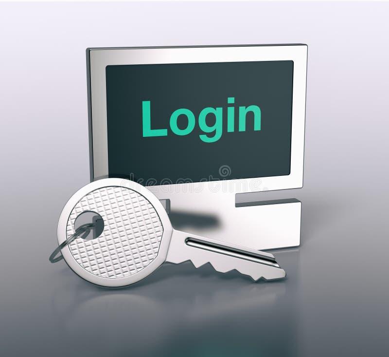 Διαμορφωμένο υπολογιστής μπρελόκ απεικόνιση αποθεμάτων