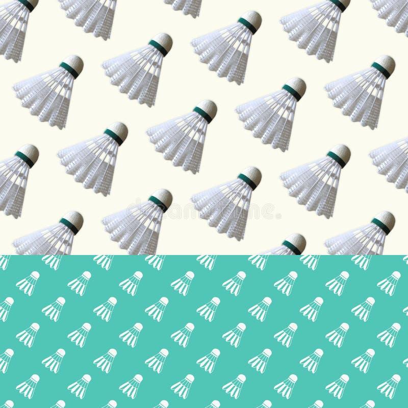 Διαμορφωμένο υπόβαθρο - μπάντμιντον Birdie απεικόνιση αποθεμάτων