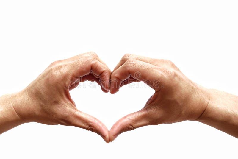 Διαμόρφωση χεριών της καρδιάς στοκ εικόνα με δικαίωμα ελεύθερης χρήσης