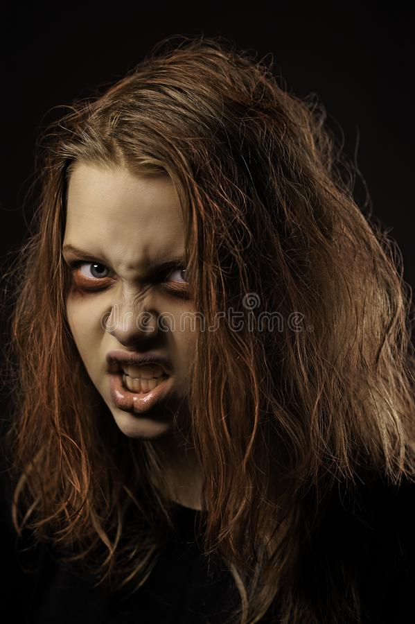 Διανοητικά - άρρωστο κορίτσι στοκ φωτογραφίες με δικαίωμα ελεύθερης χρήσης