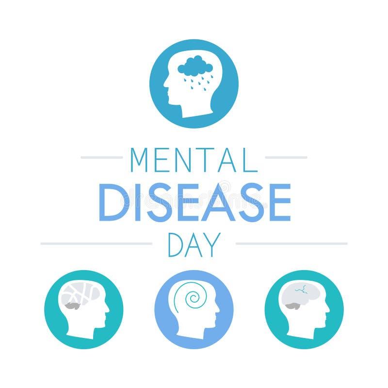 Διανοητικό εικονίδιο ασθενειών κατάθλιψης απεικόνιση αποθεμάτων