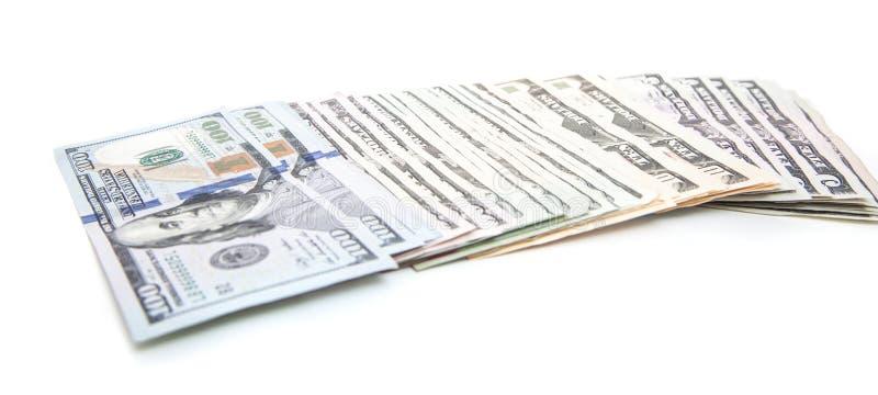 Διανομή των διάφορων σημειώσεων δολαρίων στοκ φωτογραφίες με δικαίωμα ελεύθερης χρήσης