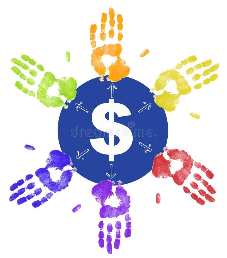 διανομή χρημάτων διανυσματική απεικόνιση