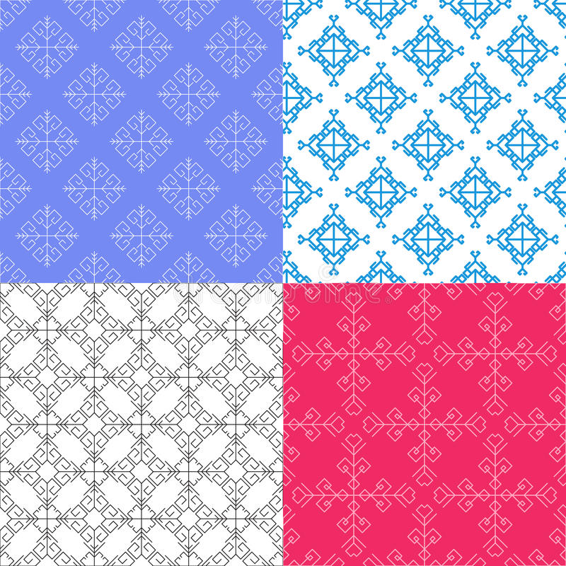 Διανυσματικά άνευ ραφής γεωμετρικά σχέδια χρώματος στοκ εικόνα