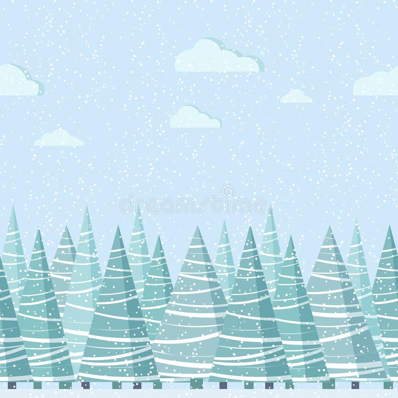 Διανυσματικά άνευ ραφής σύνορα φύσης για το πρότυπο σχεδίου απεικόνιση αποθεμάτων