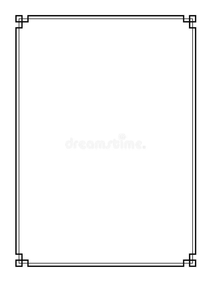 Διανυσματικά αναδρομικά σύνορα σελίδων διανυσματική απεικόνιση