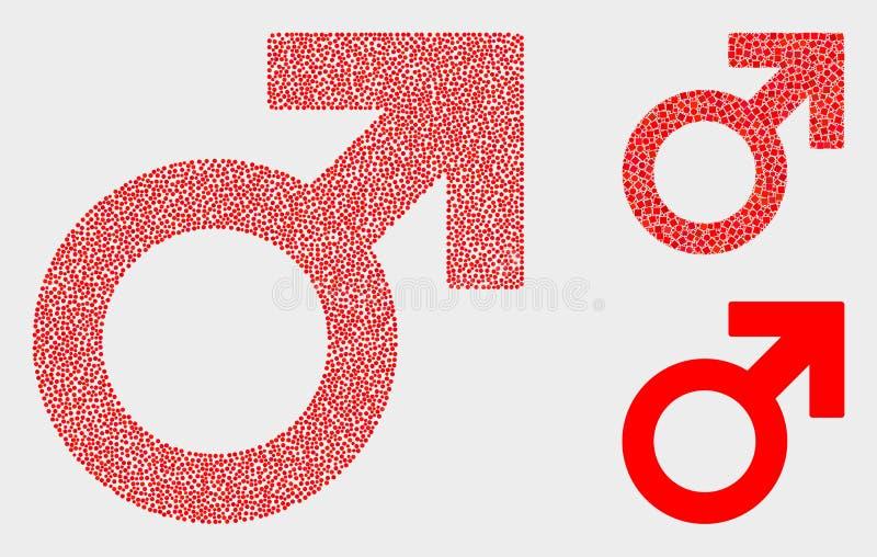 Διανυσματικά αρσενικά εικονίδια συμβόλων Pixelated ελεύθερη απεικόνιση δικαιώματος