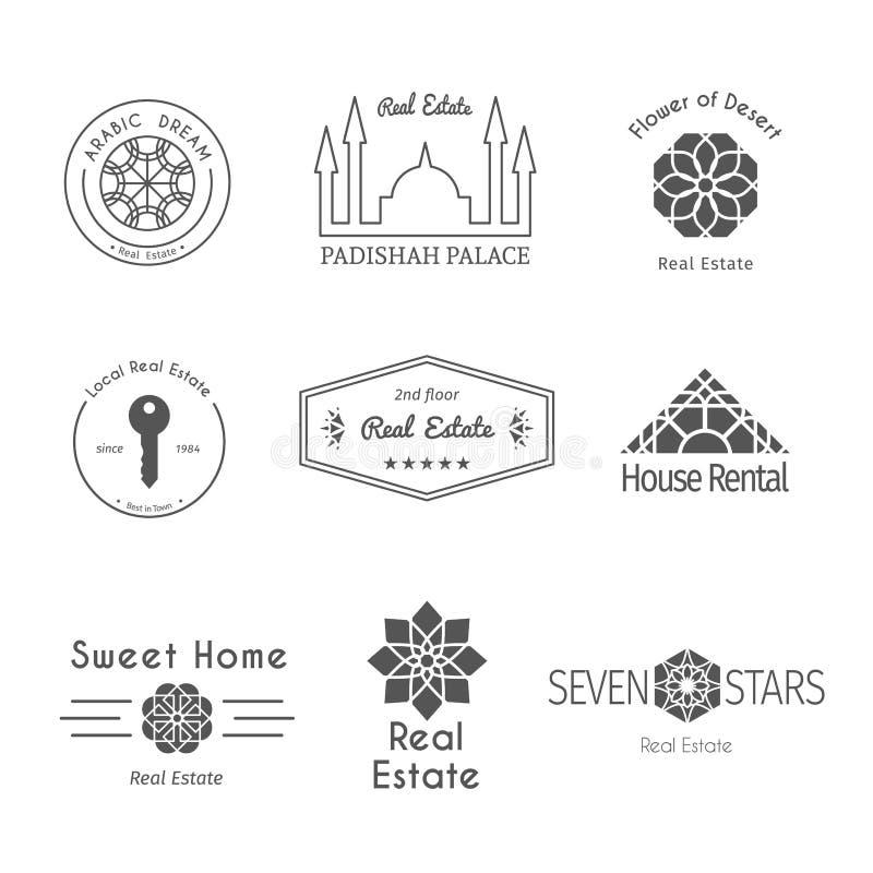 Διανυσματικά ασιατικά πρότυπα λογότυπων διανυσματική απεικόνιση