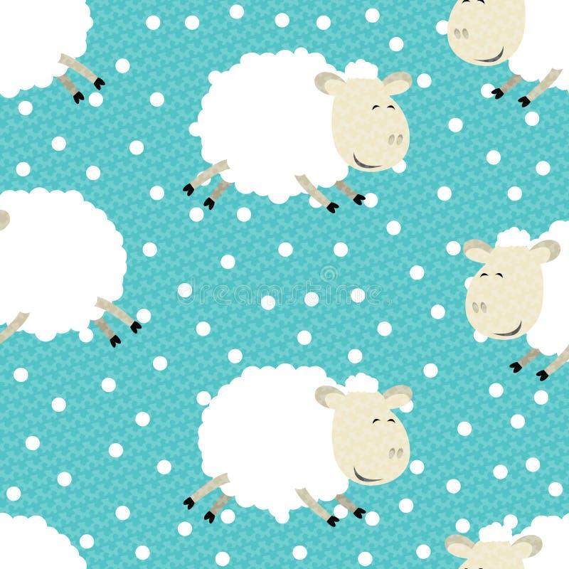 Διανυσματικά αστεία πρόβατα απεικόνιση αποθεμάτων