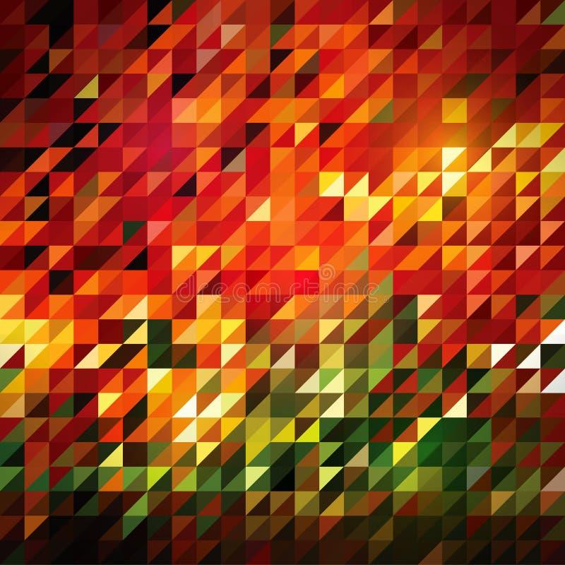 Διανυσματικά αφηρημένα κεραμίδια τριγώνων διανυσματική απεικόνιση