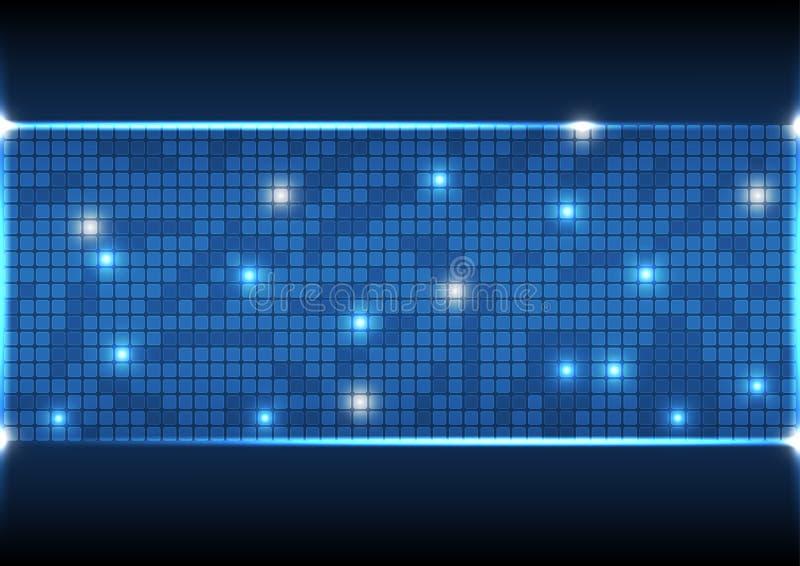 Διανυσματικά αφηρημένα υποβάθρου στοιχεία επικοινωνίας απεικόνισης τεχνολογίας ηλεκτρονικά στοκ εικόνα με δικαίωμα ελεύθερης χρήσης