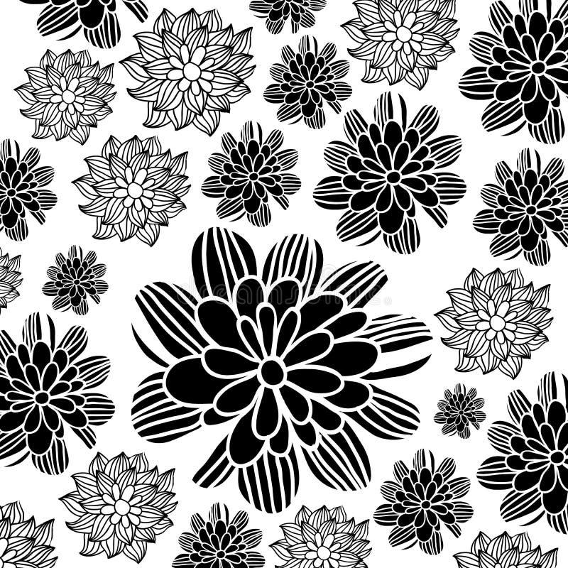 Διανυσματικά αφηρημένα φύλλα σκιών υποβάθρου σχεδίου λουλουδιών διανυσματική απεικόνιση