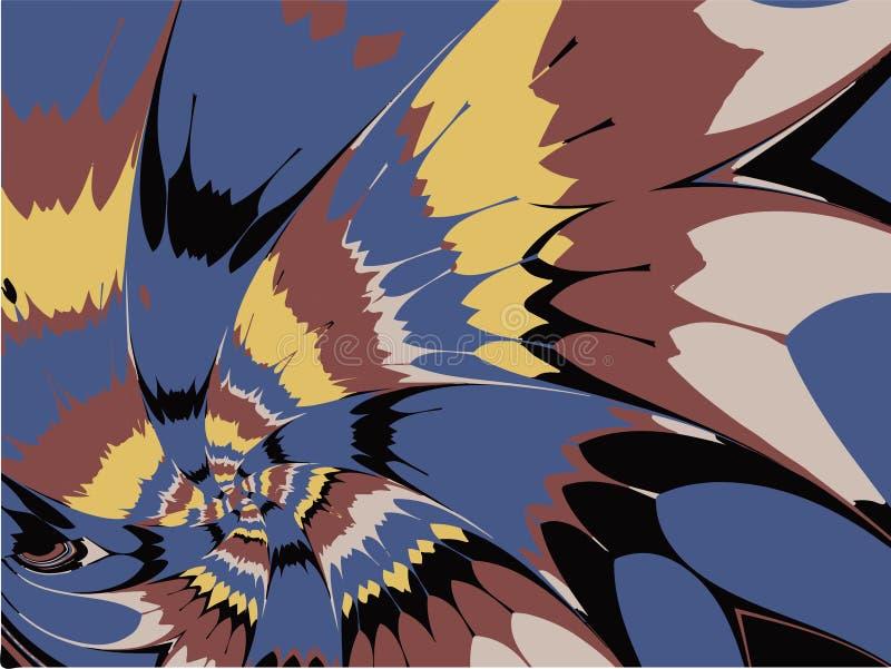 Διανυσματικά αφηρημένα fractal ζωηρόχρωμα σπειροειδή πυροτεχνήματα πετάλων απεικόνιση αποθεμάτων