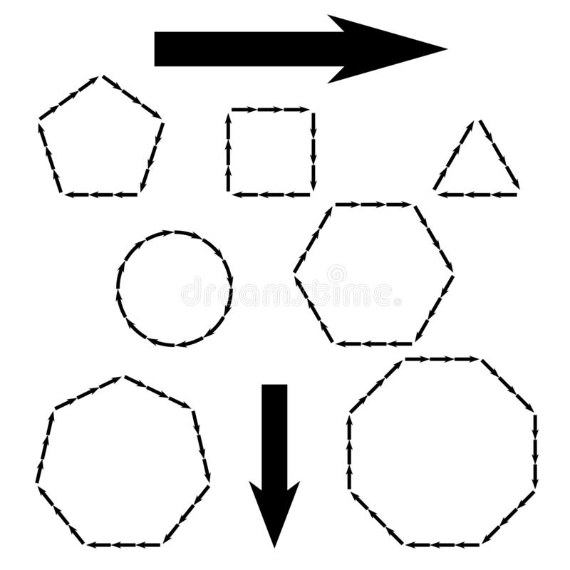 Διανυσματικά βέλη infographic στους διάφορους αριθμούς Πρότυπο για το διάγραμμα, τη γραφική παράσταση, την παρουσίαση και το διάγ διανυσματική απεικόνιση