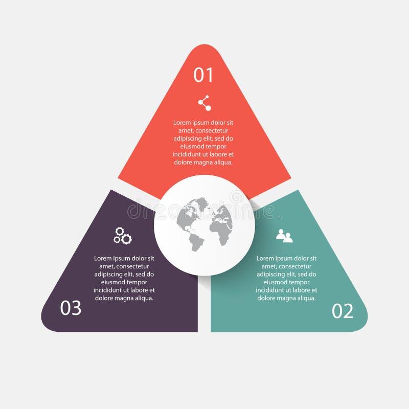 Διανυσματικά βέλη κύκλων για infographic Μπορέστε να χρησιμοποιηθείτε για το graphi πληροφοριών απεικόνιση αποθεμάτων