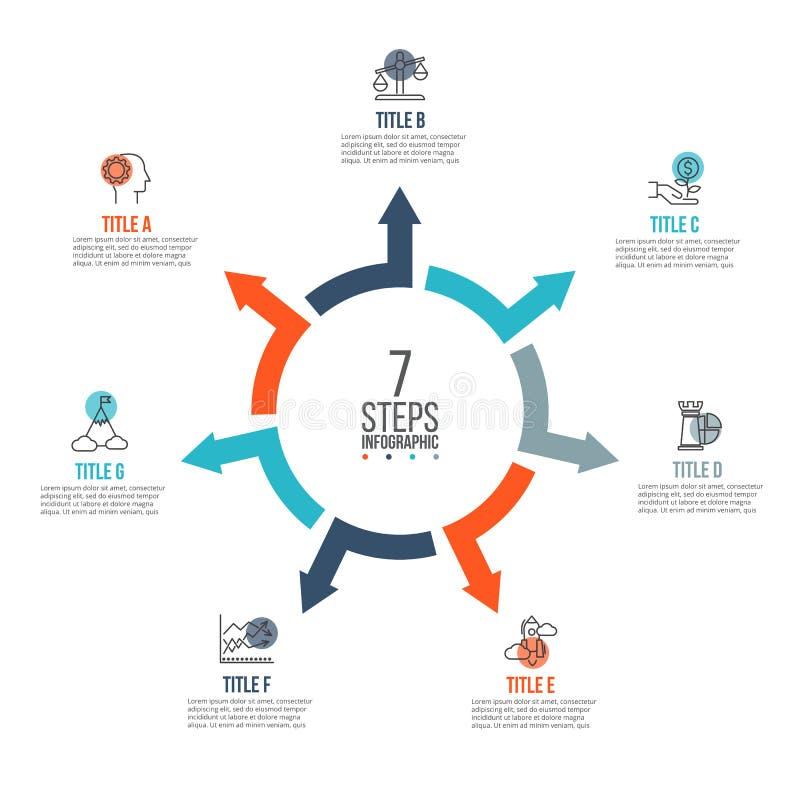 Διανυσματικά βέλη infographic ελεύθερη απεικόνιση δικαιώματος