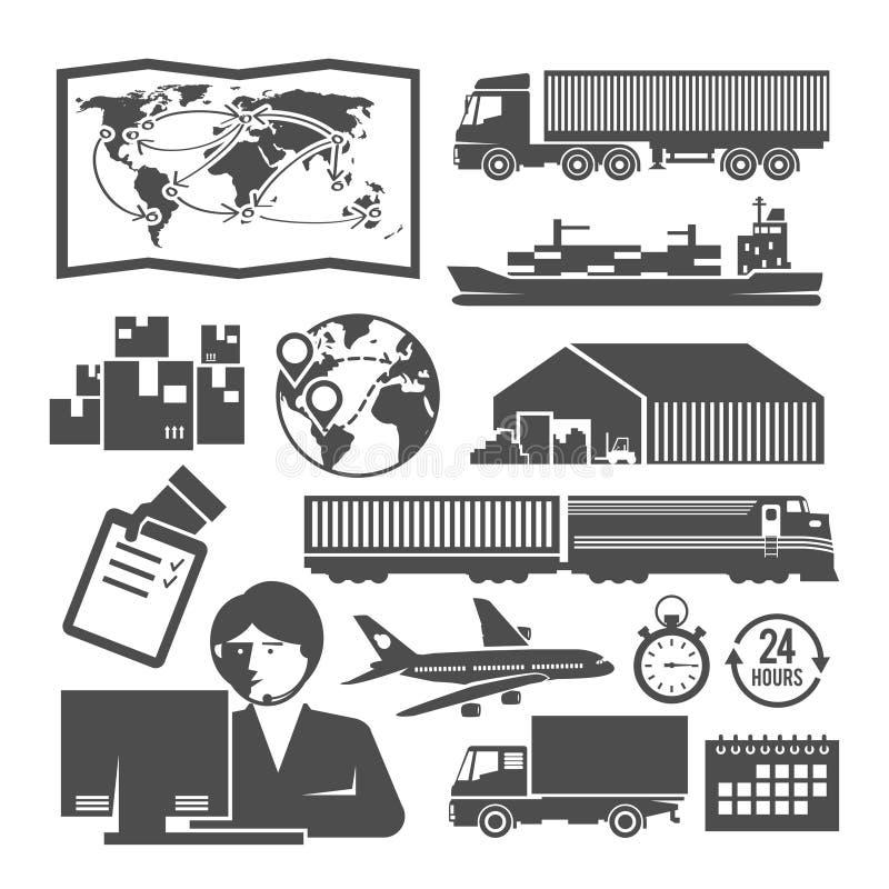 Διανυσματικά γραπτά εικονίδια διοικητικών μεριμνών διανυσματική απεικόνιση