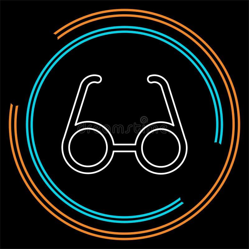 Διανυσματικά γυαλιά ματιών που απομονώνονται, οπτικά γυαλιά μόδας - eyeglasses απεικόνιση πλαισίων ελεύθερη απεικόνιση δικαιώματος