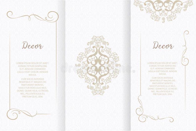 Διανυσματικά διακοσμητικά πλαίσιο ή γενέθλια και ευχετήρια κάρτα, γαμήλια πρόσκληση διανυσματική απεικόνιση