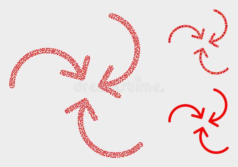 Διανυσματικά εικονίδια βελών στροβίλου σημείων διανυσματική απεικόνιση