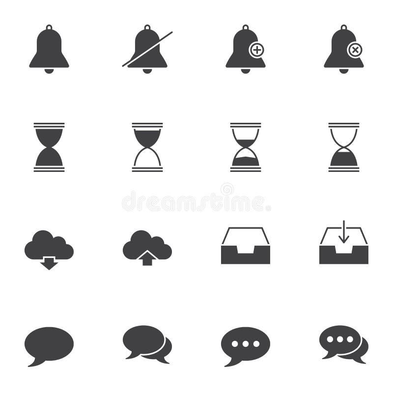 Διανυσματικά εικονίδια ενδιάμεσων με τον χρήστη καθορισμένα απεικόνιση αποθεμάτων