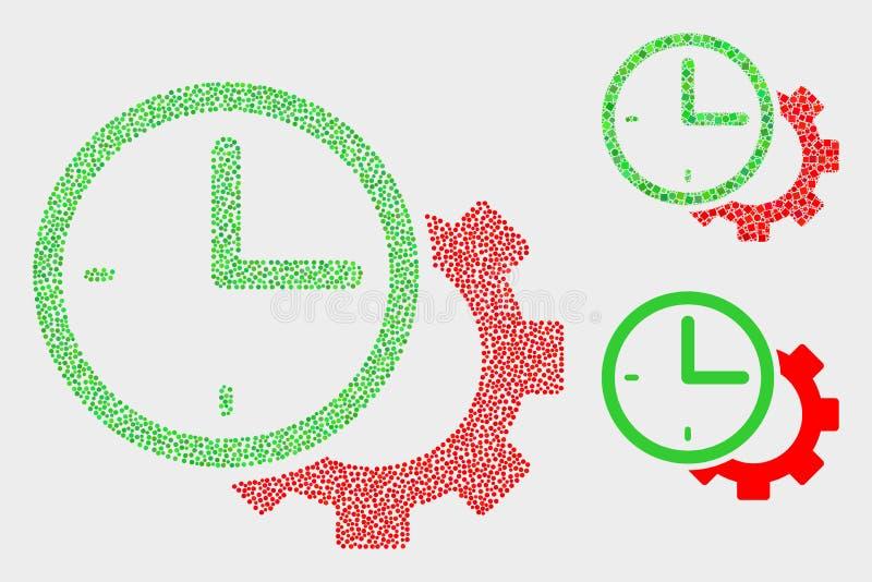 Διανυσματικά εικονίδια εργαλείων χρονικών τοποθετήσεων εικονοκυττάρου απεικόνιση αποθεμάτων