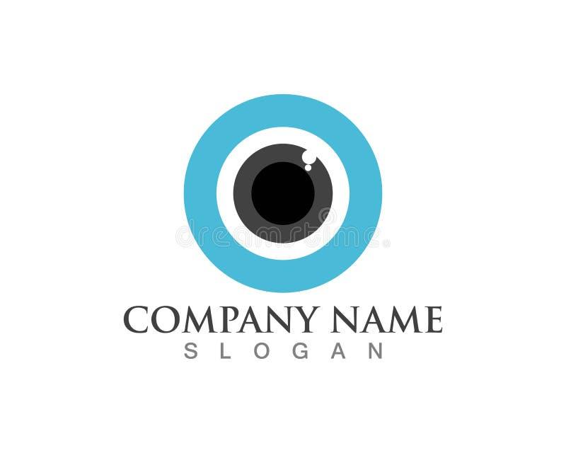 Διανυσματικά εικονίδια λογότυπων προσοχής ματιών ελεύθερη απεικόνιση δικαιώματος