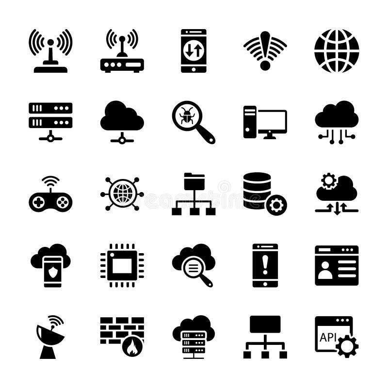 Διανυσματικά εικονίδια τεχνολογίας καθορισμένα απεικόνιση αποθεμάτων