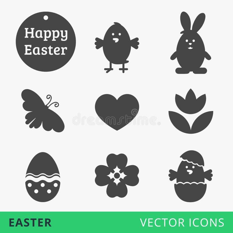 Διανυσματικά εικονίδια Ιστού σημαδιών Πάσχας διανυσματική απεικόνιση