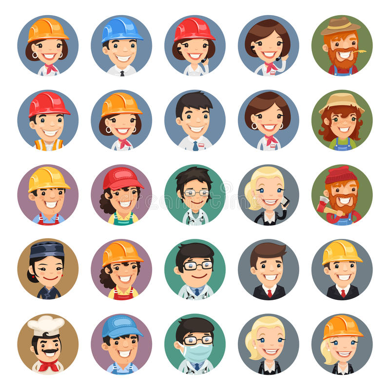 Διανυσματικά εικονίδια Set1.1 χαρακτήρων επαγγελμάτων απεικόνιση αποθεμάτων